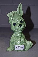 Green glaze Sylvac rabbit, approx 19cm H