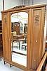 Vintage French Louis XVI style walnut three door