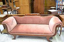 Regency English mahogany double ended settee