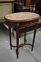 Antique petit French marble topped occasional