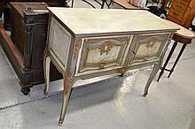 Vintage French painted Louis XV style two door
