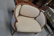 French settee, approx 130cm W
