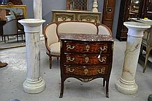 Pair of antique French marble columns, approx