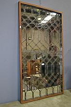 Rectangular mirror with wirework mounted frame,