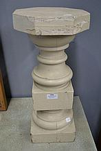 French wooden column, approx 50cm H