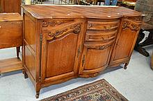 Vintage French Louis XV style parquetry topped