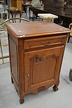 French oak Louis XV style single door cupboard,