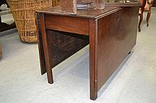Antique Georgian Mahogany drop leaf table, approx