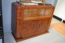 French Art Deco Mahogany and marble sideboard,