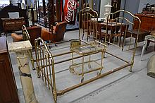 Pair of French brass beds (2)