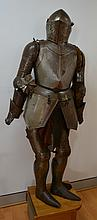 Antique Victorian suit of armour in the Medieval
