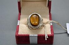 Sterling Silver ring with tiger eyes stone