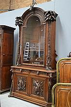 Most impressive antique French carved baroque two