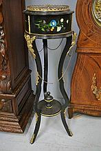 Antique French Napoleon III, ebonized and painted