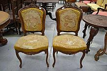 Pair of antique 19th century French Louis XV style