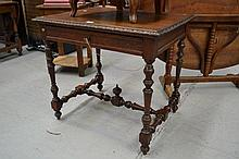 Antique French Henri II carved and turned oak