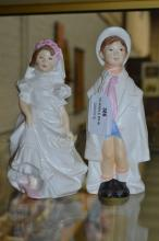 Royal Worcester Bride & Groom, approx 18cm H and shorter