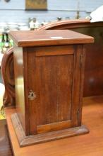 Colonial Australian cedar mini cupboard, approx 38cm H x 28cm W x 22cm D