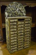 Shoe makers drawers, approx 58cm H x 30cm W x 13cm D
