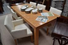Dining table, approx 75cm H x 220cm W x 101cm D