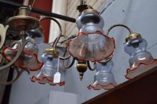 Five light chandelier along with spare shade (in office)