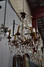 Vintage French six light chandelier