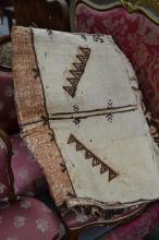 Tapa cloth of Tongan origin, (Ngatu) bats signed