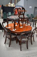 Set of eight balloon back dining chairs (8)