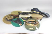 Collection of military caps