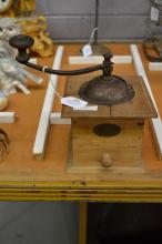 Vintage French Peugeot grinder, approx 23cm H