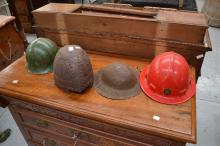 Group of four helmets (4)