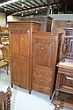 Vintage French oak Louis XV armoire, fitted with