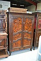 Antique 19th century French oak & walnut two door
