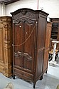 Antique French Louis XV single door armoire. 204cm