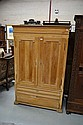 Antique Baltic pine two door armoire, fitted with