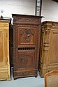 Antique French Brittany single door armoire.