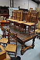 Six antique French Henri II chairs (6)