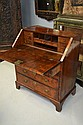 Fine antique English George I walnut bureau, the