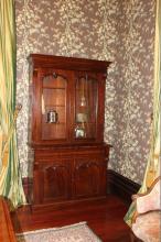 Antique 19th century Australian cedar two door bookcase, approx 230cm H x 22cm W x 53cm D