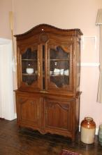 Antique French carved oak  two height buffet