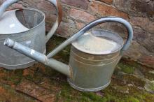 Vintage French gal watering can