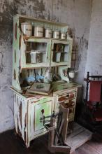 Distressed painted early 20th century pine dresser
