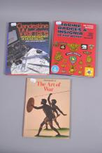 Three books: i) Clandestine Warfare. Weapons and Equipment of the SOE and OSS by Ladd and Melton, ii) Marine Badges & Insignia of the World by Campbell and Reynolds, iii) The Art of War by C. Feest.