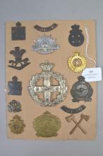 Fourteen Australian badges including militia, lighthorse, armoured infantry etc (14)