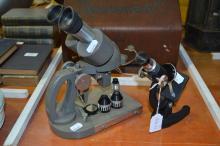 Two vintage microscopes (2)