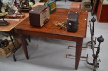 Vintage maple dining table, approx 76cm H x 109cm Sq