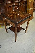 Antique rosewood envelope card table