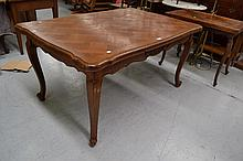 French Louis XV parquetry topped drawer leaf