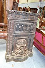 Impressive antique French cast iron fire place
