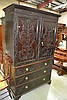 Antique Georgian carved mahogany  press on chest